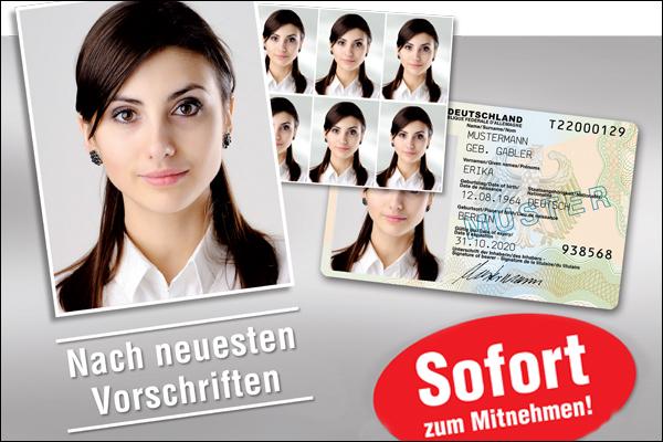 Passbilder - sofort zum Mitnehmen