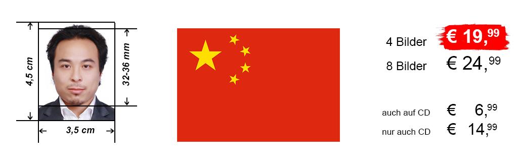 Passbilder für Visum China