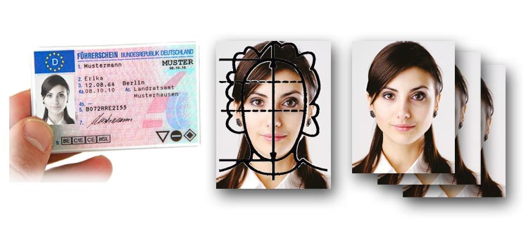 biometrische Passbilder für den Führerschein