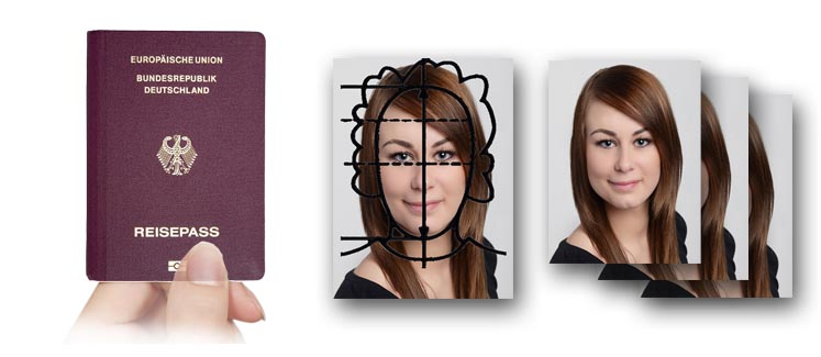 Passbilder für den Reisepass